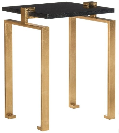 "Stolik kawowy, pomocniczy  Safavieh "" KAMI GOLD LEAF SIDE TABLE """